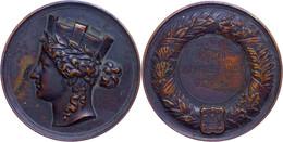 1518 Hamburg, Bronzemedaille (78,6 G, 53 Mm), 1940, Hamburgische Ehrendenkmünze, Hüs. 04.08.00/3, Signiert,  Av: Frauenk - Army & War