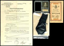 1546 Kleiner Nachlass Eines Angehörigen Der Kaiserlichen Marine Torpedo-Division Mit Militärpass, Blechausweis, Mützenba - Other