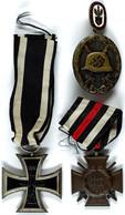 1550 Kleiner Nachlass Mit Eisernes Kreuz 2. Klasse Ausgabe 1914 Am Band, Ehrenkreuz Für Frontkämpfer Mit Schwertern Am B - Other