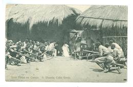 1900's, Cabo Verde, Sao Vicente, 'Uma Missa No Campo.' Bayonet Drill? Animated Printed Pc, Unused. - Cape Verde