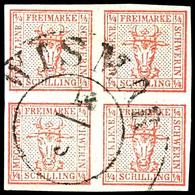 """1796 4/4 S.graurot, Zentrisch Gestempelt K2 """"WISMAR 10/3"""", Allseits Vollrandig, Tadelloses Kabinettstück, Gepr. Krause,  - Mecklenburg-Schwerin"""