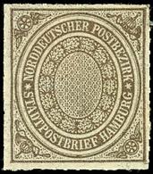 2069 1/2 Sch. Stadtpostmarke, Tadellos Ungebraucht, Allseits Vollständiger Durchstich, Mi. 150.-, Katalog: 12 * - Norddeutscher Postbezirk