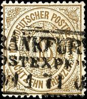 """2071 18 Kr (hell)olivbraun Sauber Gestempelt """"FRANKFURT A. M.; POSTEXP. No. 1; .../11.71"""", Neuer Fotobefund Mehlmann BPP - Norddeutscher Postbezirk"""
