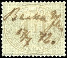 """2072 10 Gr. Innendienst, Mit Federzugentwertung Aus """"Berka A/Ilm 17/7 72"""", Kabinett, Gepr. Hoyer Und Bühler, Katalog: 25 - Norddeutscher Postbezirk"""