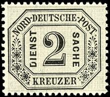 2074 2 Kr. Schwarz/mattgrau, Tadellos Postfrisch, Kabinett, Gepr. Engel BPP, Mi. 200.-, Katalog: 7 ** - Norddeutscher Postbezirk