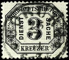 """2075 3 Kr. Schwarz/mattgrau, Farbfrisches Exemplar Mit Ideal Zentrisch Aufgesetztem Taxis-K1 """"COBURG 26/7 71"""" Mit Ringel - Norddeutscher Postbezirk"""