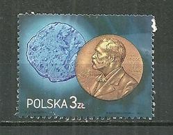 POLAND Oblitéré Timbre De 2011 Provenant Du Bloc 194 Médaille Du Prix Nobel De Chimie Marie Curie - 1944-.... Republik
