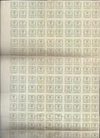 España. Conjunto De 3 Grandes Bloques De 50 Sellos Cada Uno Del 4/4 C. Verde. Total 150 Sellos. Edifil Nº 173 - 1875-1882 Reino: Alfonso XII