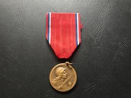 Medaille Commémorative De La Bataille De Verdun «on Ne Passe Pas» Poinçon Sanglier & BR - 1914-18