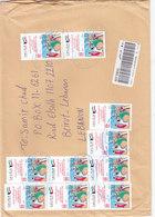 KUWAIT Registr.com,cover Sent 2010 Franked Comme,morat10 Stamps- Fine- RED.Price- SKRILL PAY ONLY - Kuwait