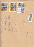 Kuwait Com.LARGE SIZE Cover Rehgsitr.franked 6 Commemorat. Fine Condit- Reduced Price- SKRLL PAYMENT ONLY - Kuwait