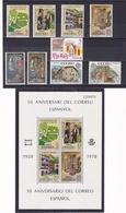 ANDORRE ESPAGNOL 1978 Année Complète  Yvert 104-112 + BF 1 NEUF** MNH - Andorre Espagnol