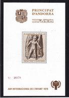 ANDORRE ESPAGNOL 1979 Année Internationale De L'enfant  NEUF** MNH - Andorre Espagnol