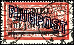 """4047 60 Pf. Auf 40 C. Flugpost, Platte I, Weißes Papier, Tadellos Gestempelt """"MEMEL C 14.7.21"""", Gepr. Nagler VP, Katalog - Klaipeda"""