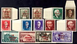 4247 1 Q. Auf 3 Q. Freimarke Bis 25 Q. Eilmarke, Kpl. Satz Zu 14 Werten, Tadellos Postfrisch, Beide Höchstwerte Gepr. Dr - Albania