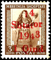 """4248 Plattenfehler """"or Höherstehend"""", Tadellos Postfrisch, Gepr. Krischke BPP, Mi. 200,--, Katalog: 1X ** - Albania"""