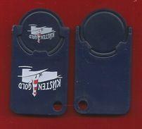 1 X Einkaufswagen-Chip Aus Plastik  - Küstengold - - Jetons De Caddies