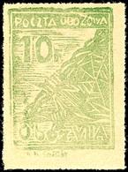 4886 Murnau: 1942, 10 F. Grün Gezähnt, Tadellos Postfrisch, Auflage Nur 2.094 Stück (für Alle Vier Typen), Gepr. Schmutz - Deutschland