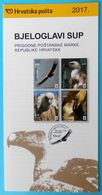 EURASIAN GRIFFON Croatian Post Stamp Prospectus * Vulture Vautour Fauve Gansegeier Grifone Buitre Bird Of Pray Raptors - Águilas & Aves De Presa