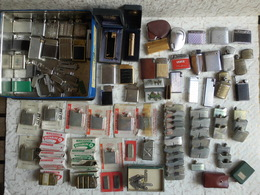 Gros Lot De Briquets Vintage 24 Fonctionnent + 14 Pour Pièces + 18 & 26 Cuves Recharges + Divers. - Autres