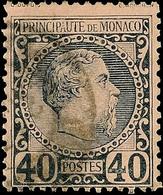 "5819 Charles III. 1 C Bis 40 C Kpl. Pracht 2 C. Seltene Lochung ""CL"", Mi. 278.-, Katalog: 1/7 O - Monaco"
