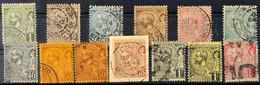 5821 Freimarken Albert I., 1 C. Bis 5 Fr. Kpl. 5 Fr. Die Bessere Farbe A, Außerdem 18 B Und 20 X, 75 C. Auf Briefstück;  - Monaco