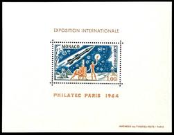 """5827 1964, Sonderdruck In Blockform, 1 Fr. """"Philatec Paris 1964"""", Tadellos Postfrisch, Dieser Sonderdrucke Hatten Keiner - Monaco"""