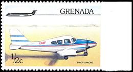 """6087 1976, 1/2 C. Flugzeuge, Abart """"rechts Ungezähnt"""", Vom Rechten Bogenrand, Tadellos Postfrisch, Dekorative Und Selten - Grenada (1974-...)"""