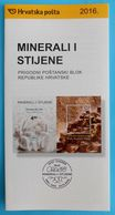 MINERALS AND ROCKS 2016.- Croatian Post Official Postage Stamp Prospectus * Geology Mineral Geological Geologie Geologia - Mineralien