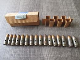 Boite De 16 Cartouches 9mm  Allemande Neutralisées 1943 - Decorative Weapons