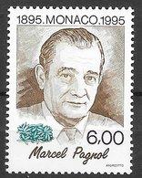 Monaco N°1985 6F Marcel Pagnol 1995 ** - Ungebraucht