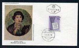 AUSTRIA FDC ERSTTAG WIPA 1965 DER BRIEF UND DIE KUNST (POMPEII) - FDC