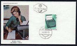 AUSTRIA FDC ERSTTAG WIPA 1965 DER BRIEF HEUTE - FDC