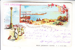 EGYPT GRUSS POSTED  ALEXANDRIA - AUSTRIA 1899 - Alexandrie
