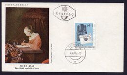 AUSTRIA FDC ERSTTAG WIPA 1965 DER BRIEF UND DIE KUNST (GERARD TER BORCH) - FDC
