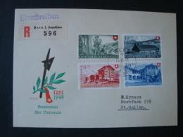 Schweiz, Einschreibebrief FDC Mit Mi.-Nr. 508/11 - Briefe U. Dokumente