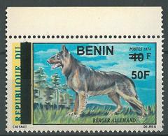 Benin 2009 MNH - German Shepherd Dog Animal Ovptd 50F - Cv 70$ - Benin - Dahomey (1960-...)