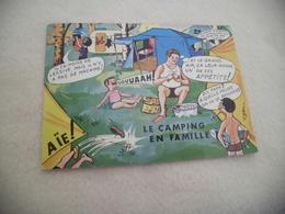 BELLE ILLUSTRATION HUMORISTIQUE ...LE CAMPING EN FAMILLE ..SIGNE R. ALLOUIN - Humour