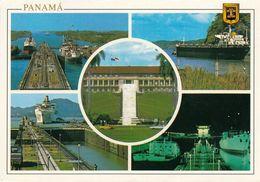 1 AK Panama * Panamakanal Mit Den Schleusen Gatun Und Miraflores - In Der Mitte Das Gebäude Der Verwaltung * - Panama