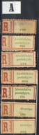 HUNGARY ROMANIA 1940 - 45  Northern Transylvania REGISTERED  LABEL  Letter A + B Place Names VF - Emissions Locales