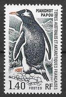 TAAF N°60 Manchot 1F40 1976 ** - Terres Australes Et Antarctiques Françaises (TAAF)