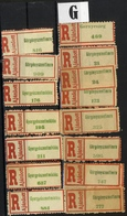 HUNGARY ROMANIA 1940 - 45  Northern Transylvania REGISTERED  LABEL  Letter G + EXPRESS Place Names VF - Emissions Locales