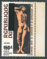 Details About  Benin 2009 MNH - Adam Paiting Vy Cranach, Ovptd 400F - Cv 29$ - Benin - Dahomey (1960-...)