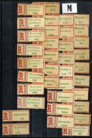 HUNGARY ROMANIA 1940 - 45  Northern Transylvania REGISTERED  LABEL  Letter M Place Names VF - Emissions Locales