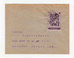 !!! PRIX FIXE : LETTRE EN FRANCHISE MILITAIRE DE 1917 AVEC VIGNETTE DELANDRE CROIX ROUGE - Postmark Collection (Covers)