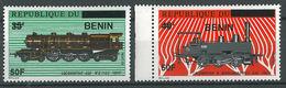 Benin 2009 MNH - Railways Trains 2 Ssarce Stamps Ovptd 50F - Cv 238$ - Benin - Dahomey (1960-...)