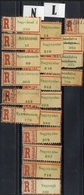 HUNGARY ROMANIA 1940 - 45  Northern Transylvania REGISTERED  LABEL  Letter N + L Place Names VF - Emissions Locales