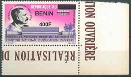 Benin 2009 MNH - Frederic Naumann Workers Education, Ovptd 400F - Cv 29$ - Benin - Dahomey (1960-...)
