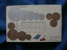 Pièces De Monnaie Francaises En Relief   Argent Et Doré - Circulée 1907 - R224 - Monedas (representaciones)