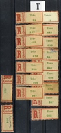 HUNGARY ROMANIA 1940 - 45  Northern Transylvania REGISTERED  LABEL  Letter SZ + T Place Names VF - Emissions Locales